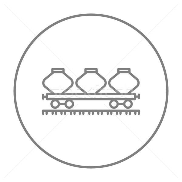 Cargo wagon line icon. Stock photo © RAStudio