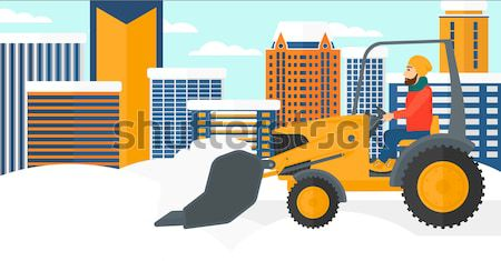 Man plowing snow. Stock photo © RAStudio