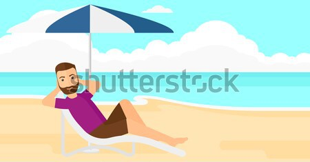 Woman sitting in chaise longue. Stock photo © RAStudio