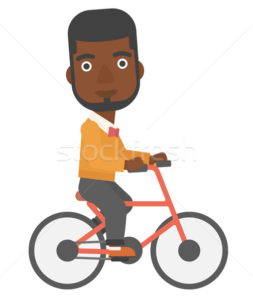 Man cycling to work. Stock photo © RAStudio