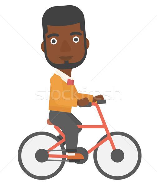 Zdjęcia stock: Człowiek · rowerowe · pracy · wektora · projektu · ilustracja