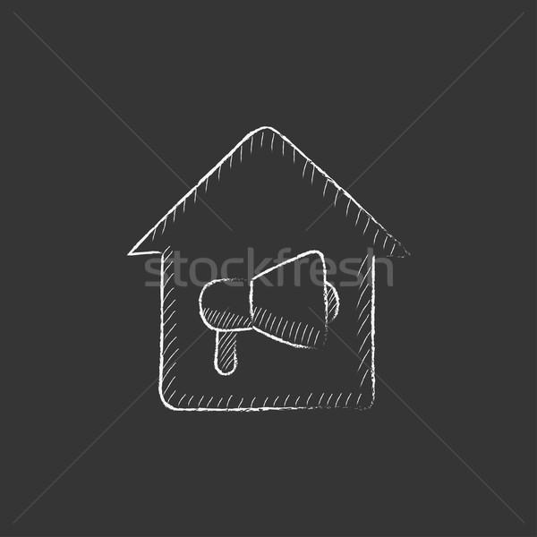 House fire alarm. Drawn in chalk icon. Stock photo © RAStudio