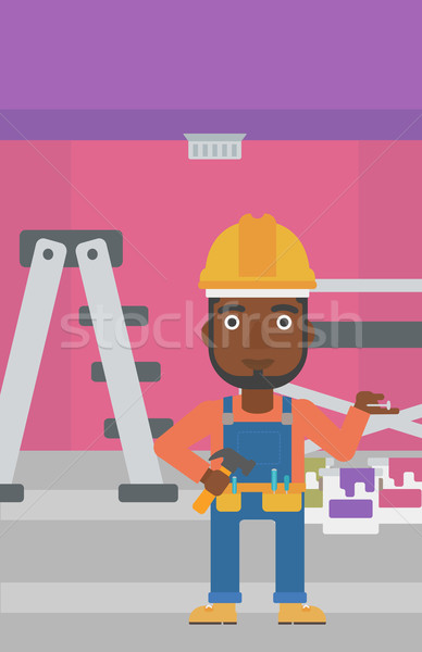 Cheerful repairer engineer. Stock photo © RAStudio
