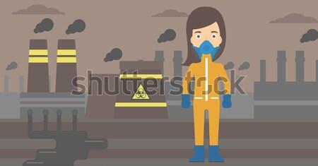 Laboratorium assistent reageerbuis chemische pak Stockfoto © RAStudio