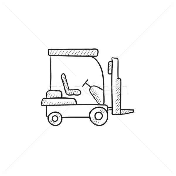 フォークリフト スケッチ アイコン ベクトル 孤立した 手描き ストックフォト © RAStudio