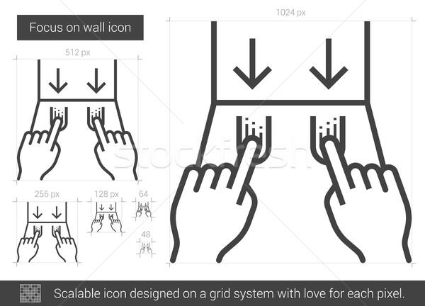 Wall focus line icon. Stock photo © RAStudio