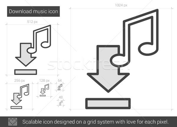 Download musica line icona vettore isolato Foto d'archivio © RAStudio