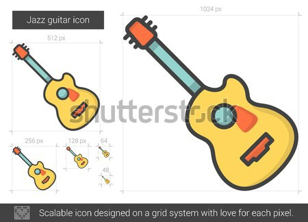 Jazz guitar line icon. Stock photo © RAStudio