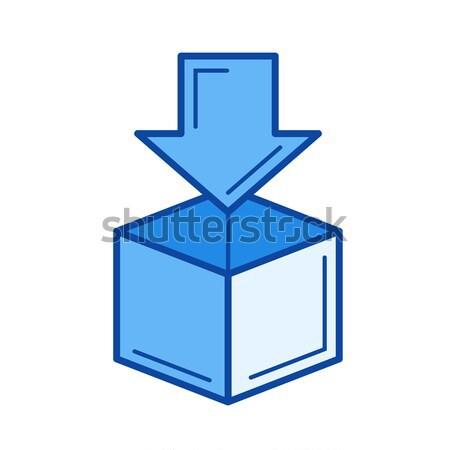 Letterbox line icon. Stock photo © RAStudio