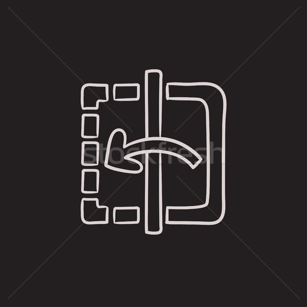 Mirror reflection sketch icon. Stock photo © RAStudio