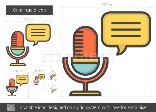 Hava radyo hat ikon vektör yalıtılmış Stok fotoğraf © RAStudio