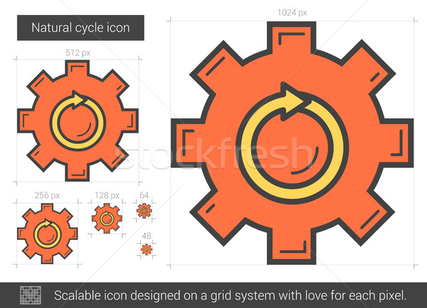 Natural cycle line icon. Stock photo © RAStudio