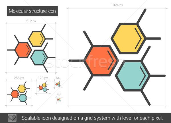 Molecular estructura línea icono vector aislado Foto stock © RAStudio