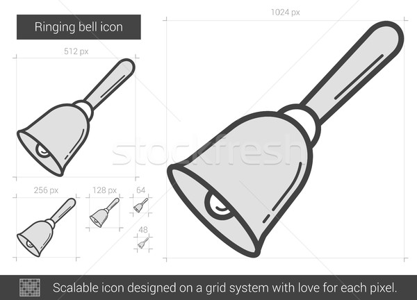 Ringing bell line icon. Stock photo © RAStudio