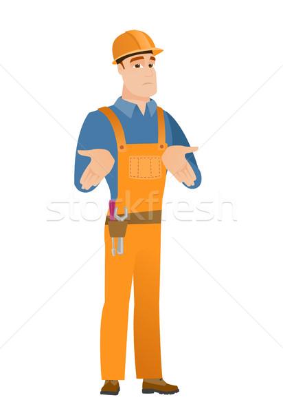 Verwechselt Builder Schultern zweifelhaft Stock foto © RAStudio