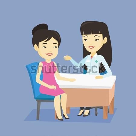 血圧 測定 小さな アジア 女性 デジタル ストックフォト © RAStudio