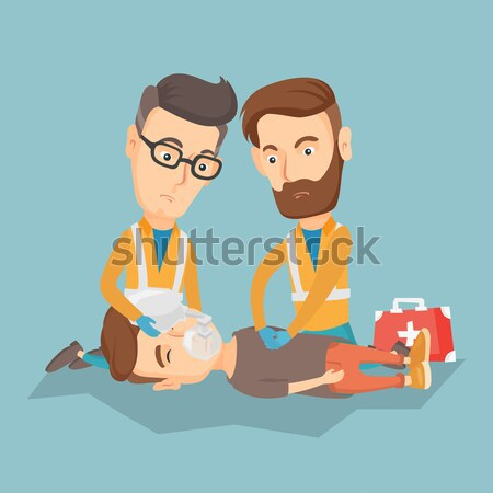 Paramedics doing cardiopulmonary resuscitation Stock photo © RAStudio