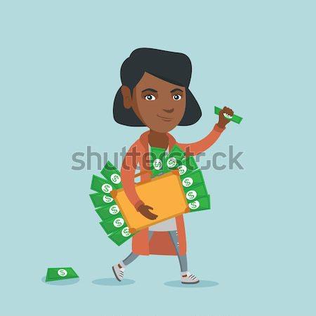 бизнесмен портфель полный деньги экономический преступление Сток-фото © RAStudio