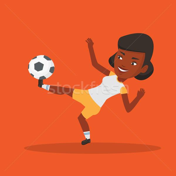 Piłkarz piłka młodych gry szczęśliwy Zdjęcia stock © RAStudio