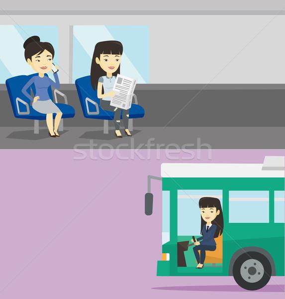Twee vervoer banners ruimte tekst vector Stockfoto © RAStudio