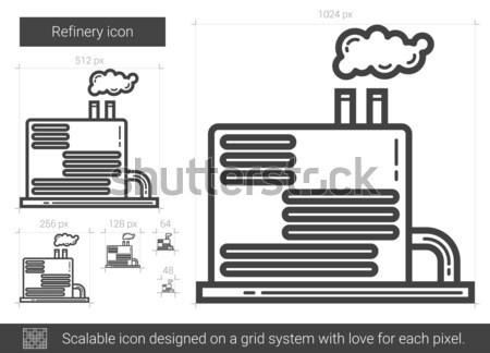 Rafineria line ikona wektora odizolowany biały Zdjęcia stock © RAStudio