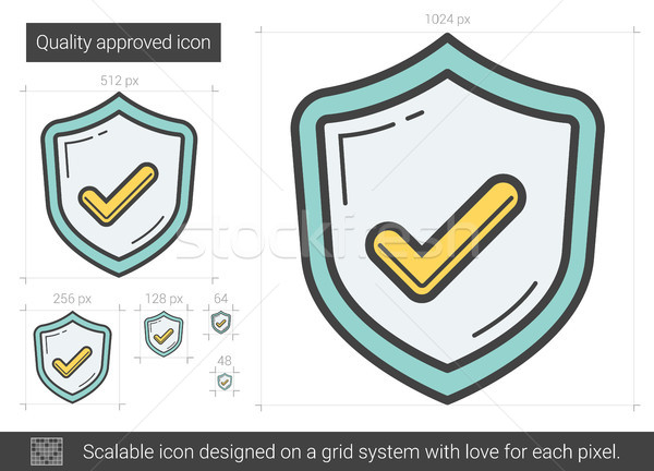 Quality approved line icon. Stock photo © RAStudio
