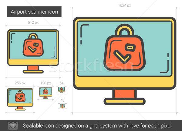 Airport scanner line icon. Stock photo © RAStudio