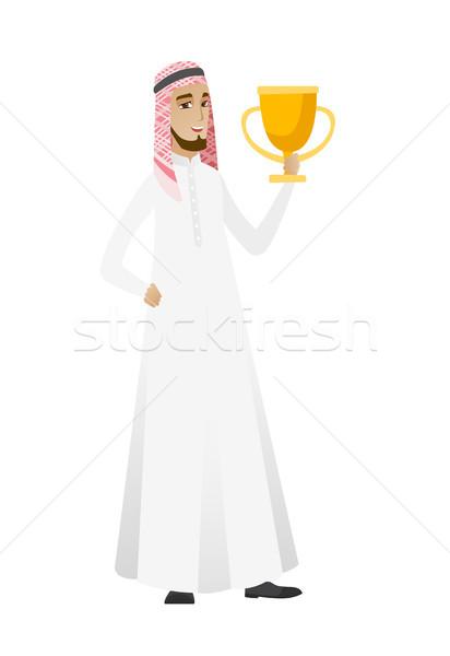 ムスリム ビジネスマン トロフィー ストックフォト © RAStudio