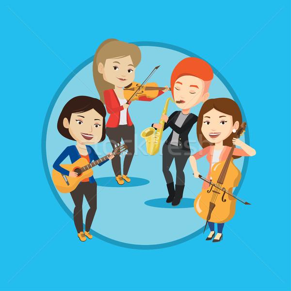 バンド ミュージシャン 演奏 楽器 グループ ストックフォト © RAStudio
