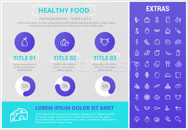 Stock photo: Healthy food infographic template, elements, icons