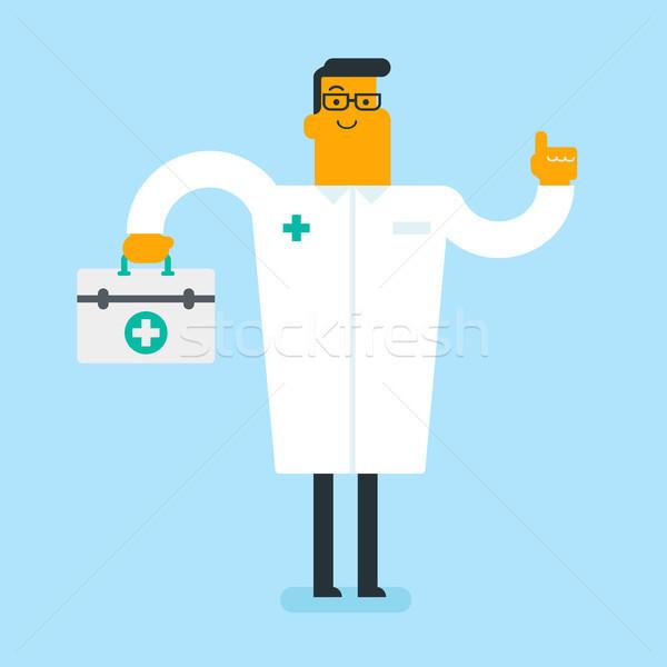 Biały lekarza pierwsza pomoc polu Zdjęcia stock © RAStudio