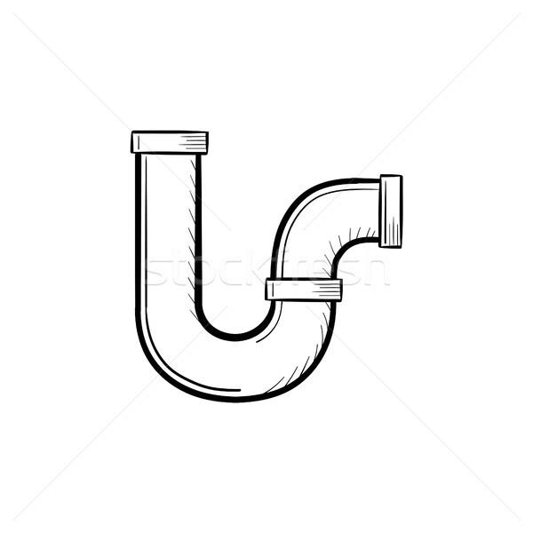 Water pipe hand drawn sketch icon. Stock photo © RAStudio