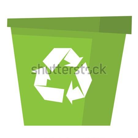 Reciclar vector Cartoon ilustración vacío Foto stock © RAStudio