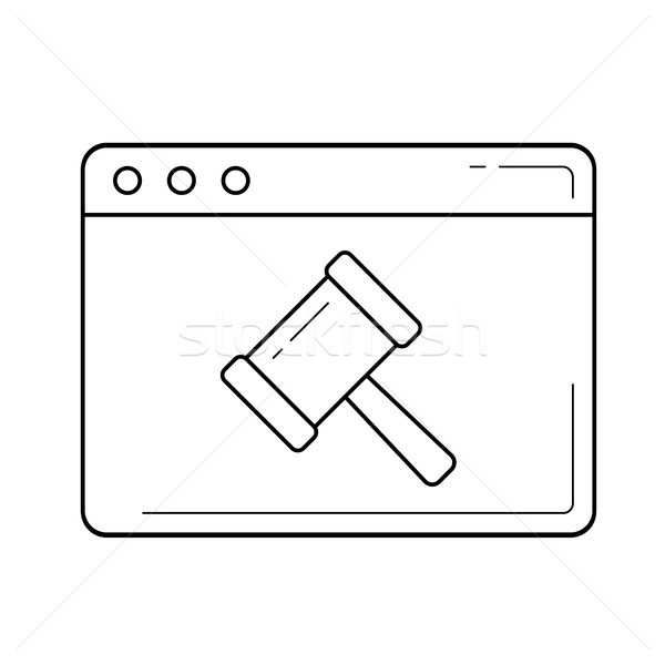 Ecommerce line icon. Stock photo © RAStudio