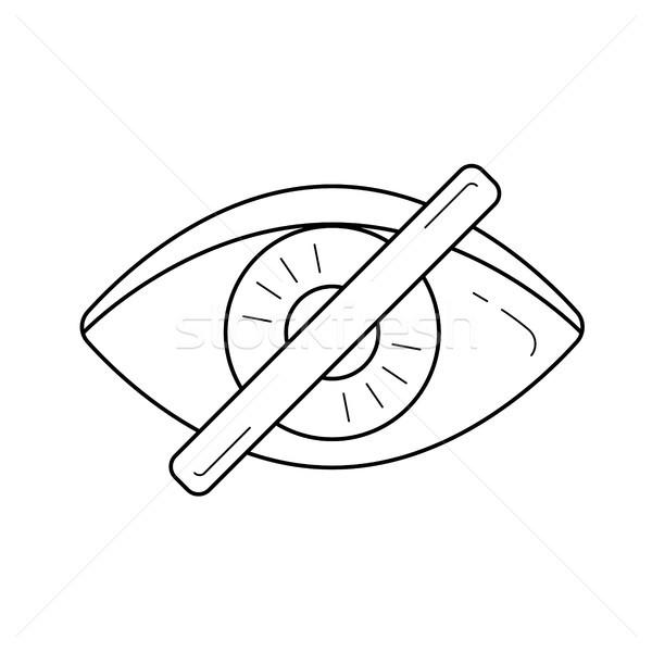 Invisible línea icono vector aislado blanco Foto stock © RAStudio