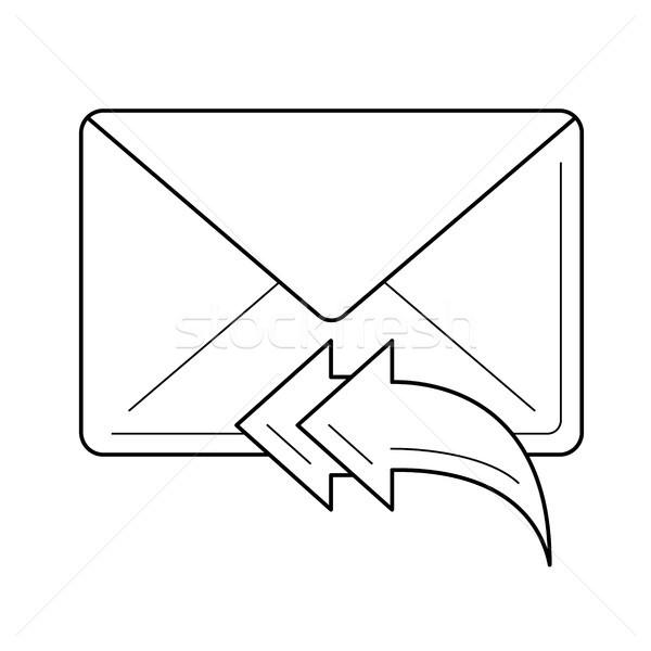 Odpowiedzieć line ikona wektora odizolowany Zdjęcia stock © RAStudio