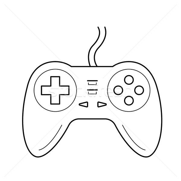 геймпад линия икона вектора изолированный белый Сток-фото © RAStudio