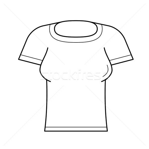 Donna stretto tshirt vettore line icona Foto d'archivio © RAStudio