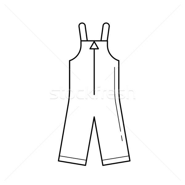 Bebek giysi vektör hat ikon yalıtılmış Stok fotoğraf © RAStudio
