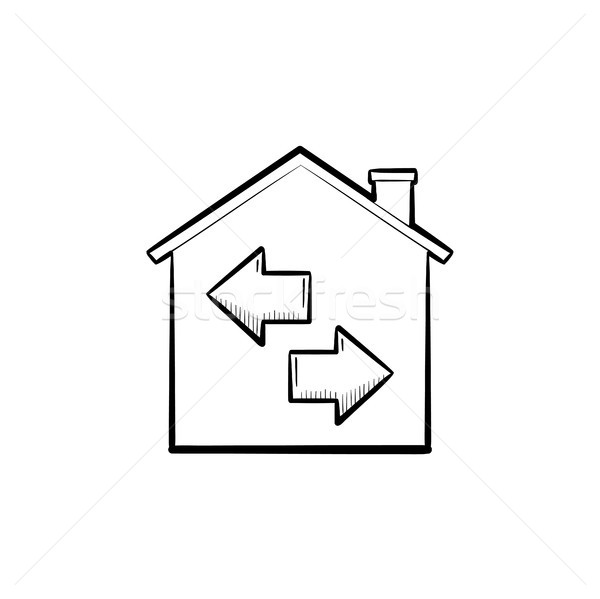 Resale hand drawn outline doodle icon. Stock photo © RAStudio