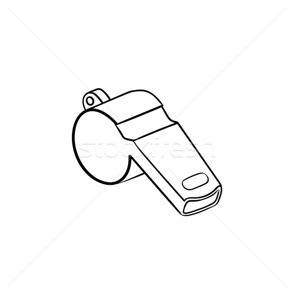 Whistle hand drawn outline doodle icon. Stock photo © RAStudio