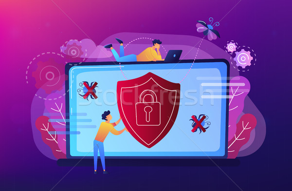 Antivirus software concept vector illustration. Stock photo © RAStudio