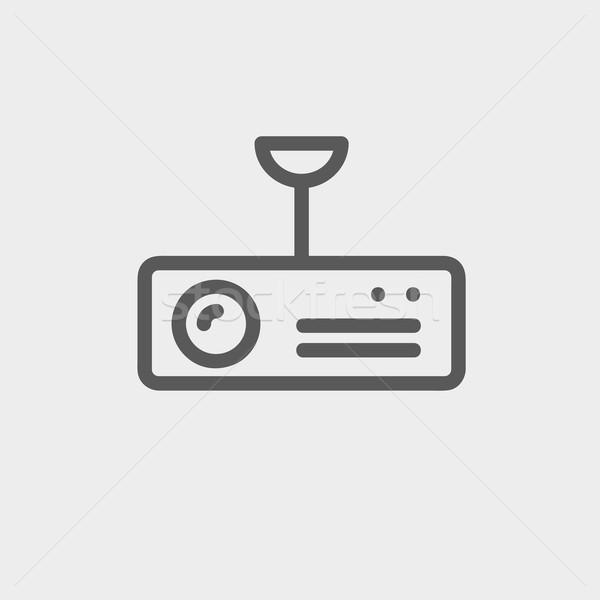 Bağbozumu radyo analog anten ince hat Stok fotoğraf © RAStudio
