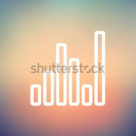 Ekolayzer ince hat ikon web hareketli Stok fotoğraf © RAStudio