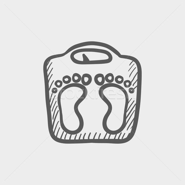 Weighing scale sketch icon Stock photo © RAStudio