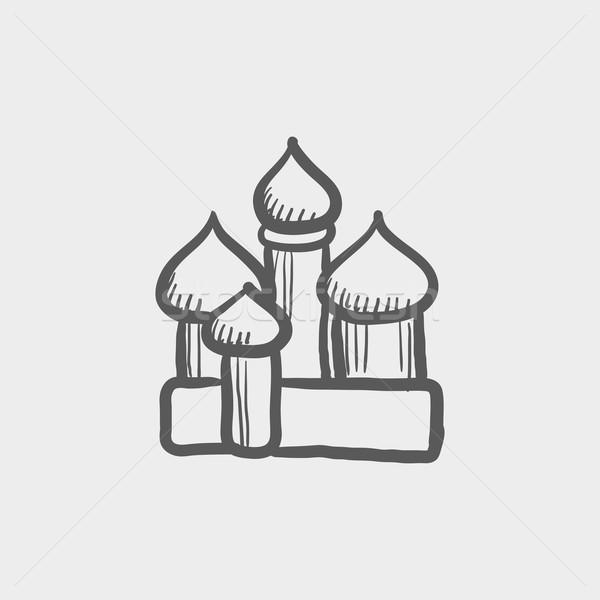 святой базилик собора эскиз икона веб Сток-фото © RAStudio