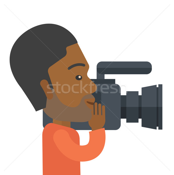 Caméraman caméra vidéo vidéo vecteur Photo stock © RAStudio