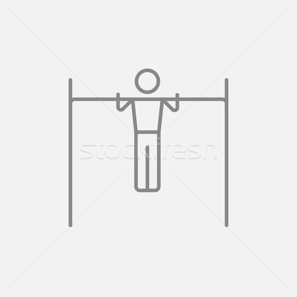 体操選手 行使 バー 行 アイコン ウェブ ストックフォト © RAStudio