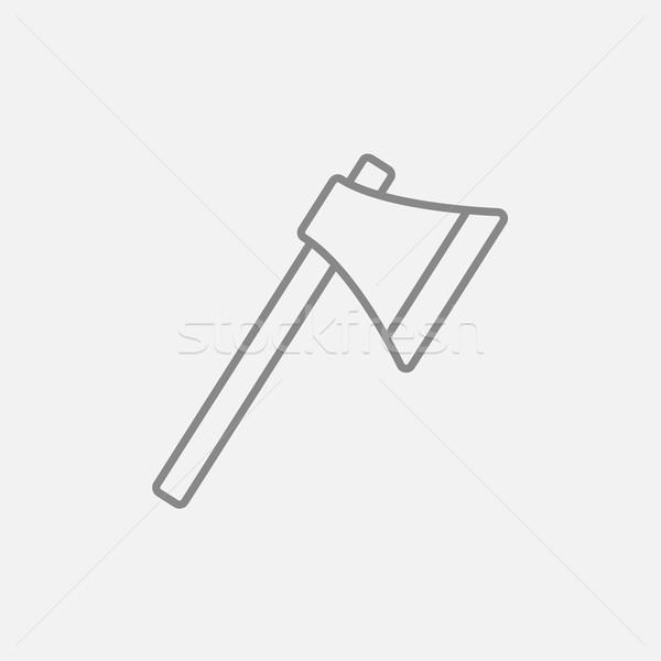 Ax line icon. Stock photo © RAStudio