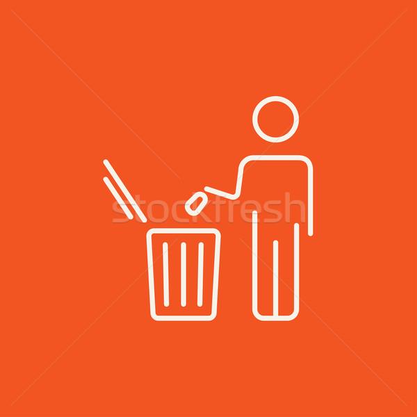 Сток-фото: человека · мусора · линия · икона